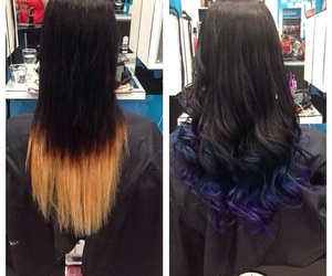 before and after, black, and blonde image