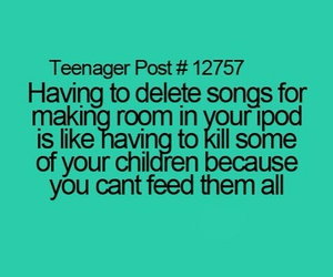child, ipod, and songs image