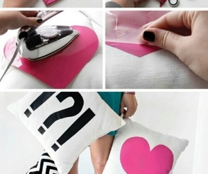 diy, heart, and pillow image