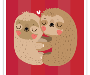 redbubble, sloth, and stickers image