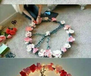 diy, peace, and flowers image