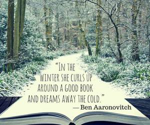 book, winter, and quote image