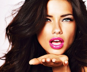 Adriana Lima, model, and lips image