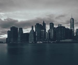 city, dark, and black image