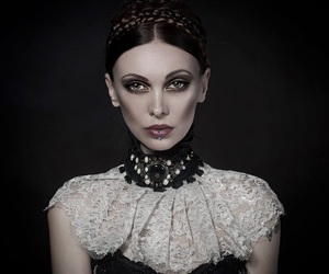 beautiful, girl, and dark beauty magazine image