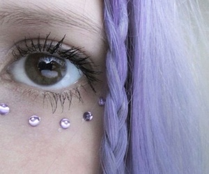 purple, hair, and grunge image