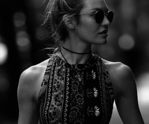 model, black and white, and candice swanepoel image
