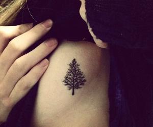 tattoo, love, and tree image