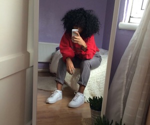 curls, outfit, and hair image