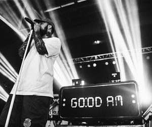 black and white, concert, and mac miller image