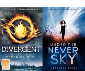 books, divergent, and under the never sky image