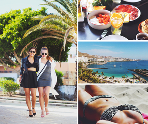 beach, gran canaria, and food image