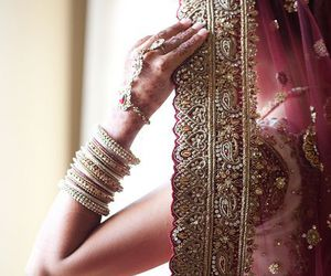 bride, wedding, and india image