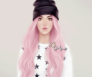 girly_m, pink, and art image