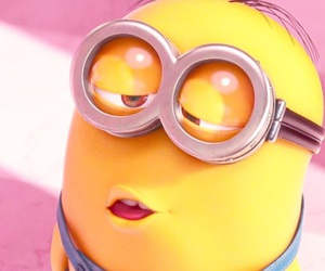 minions, kiss, and yellow image