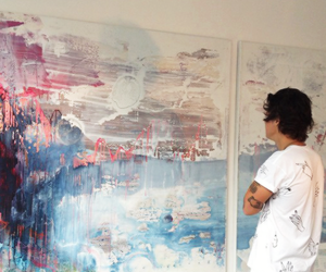 Harry Styles, art, and one direction image