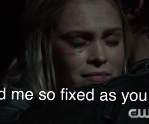 bellamy, hug, and clarke image