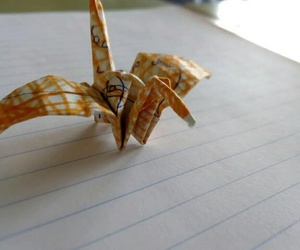 art, cool, and paper crane image