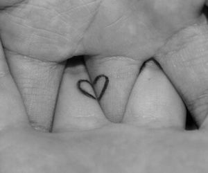 hand, heart, and love image
