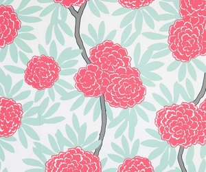 background, floral wallpaper, and flowers image