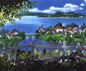 anime, ghibli, and landscape image