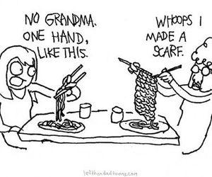 funny, grandma, and scarf image
