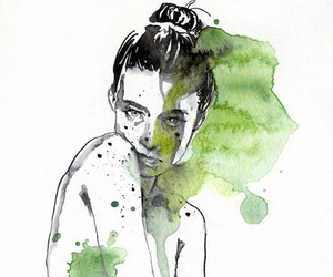 girl, green, and agnes cecile image