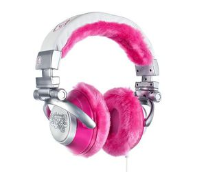 girly, headphones, and silver image