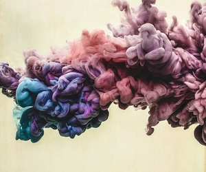 smoke, colors, and art image