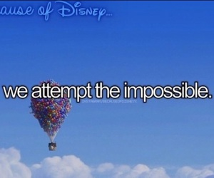 up and because of disney image