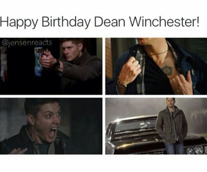 dean winchester, happy birthday, and supernatural image