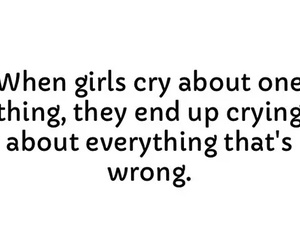 girl, cry, and boy image