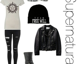 outfit, Polyvore, and spn image