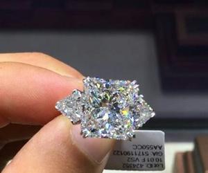 couple, wedding, and diamond image