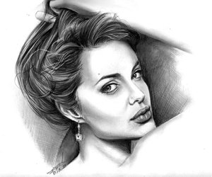 Angelina Jolie, beauty, and draw image