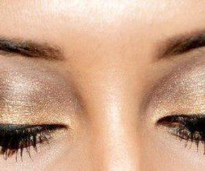 make up, makeup, and brown image