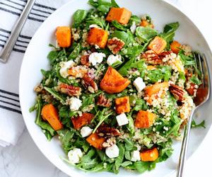 feta, salad, and sweet potato image