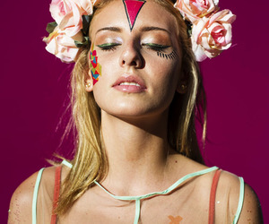 beuty, carnaval, and makeup image