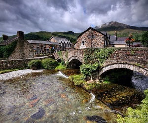 country, stream, and wales image