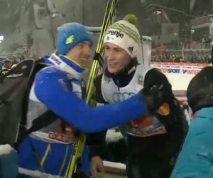 ski jumping, peter prevc, and kamil stoch image