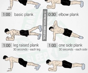 plank, abs, and exercise image