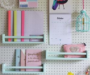 desk, diy, and study image