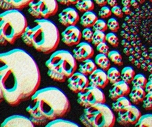 skull, grunge, and black image