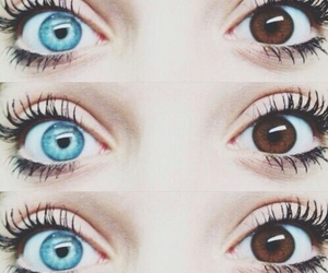 blue eyes, contrast, and girl image