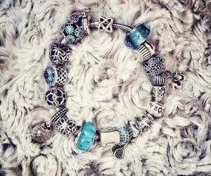 artistic, blue, and bracelet image