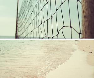 beach, diptych, and sea image