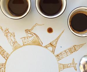 art, coffee, and creative image
