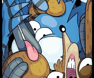 regular show, rigby, and mordecai image