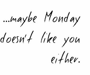 hate, week, and monday image