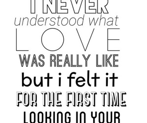 Lyrics, song, and loved you first image